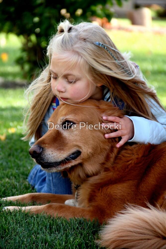 Girl & Dog by Deidre Piechocki