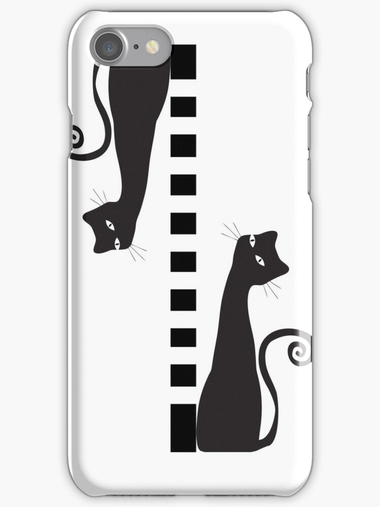 Two black cats - case by Nhan Ngo
