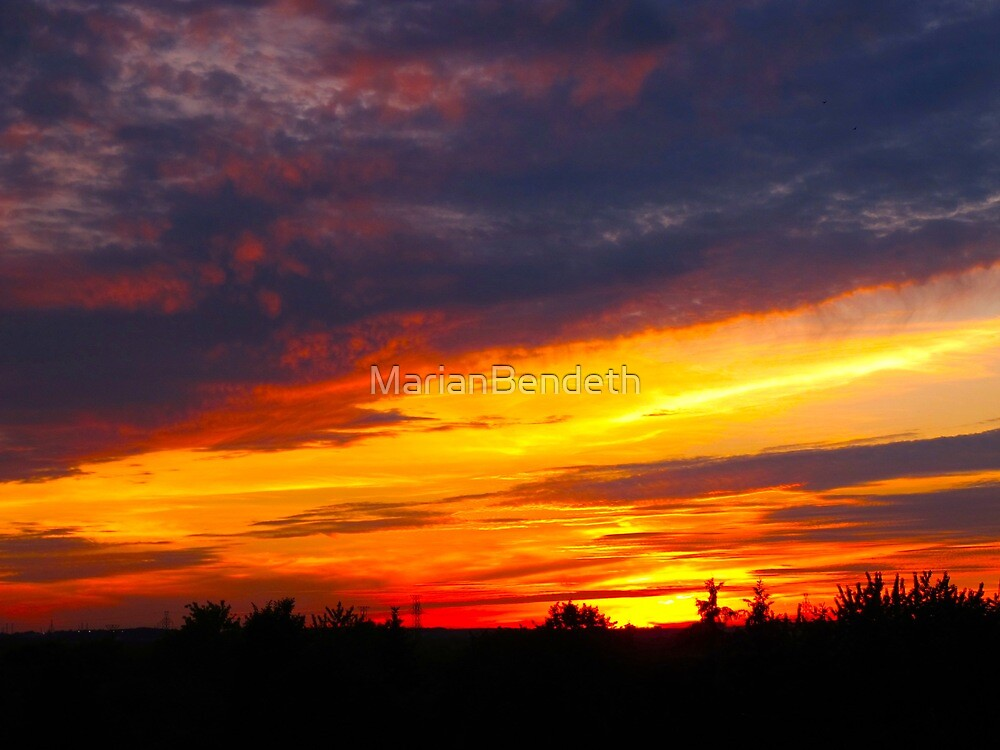 Firestorm sky by MarianBendeth
