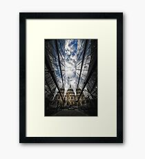 Two worlds and in between Framed Print