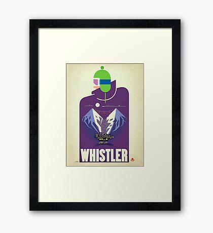 """""""Full Moon"""" Whistler, BC Travel Poster Framed Print"""
