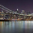 Brooklyn Bridge at Night Panorama 2 by BlackRussian