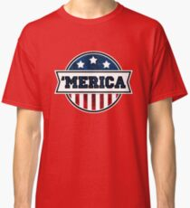 'MERICA T-Shirt. America. Jesus. Freedom. - The Campaign Classic T-Shirt