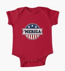 'MERICA T-Shirt. America. Jesus. Freedom. - The Campaign Short Sleeve Baby One-Piece