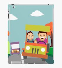 Driving away from the city iPad Case/Skin