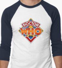 Classic Doctor Who Diamond Logo. Men's Baseball ¾ T-Shirt