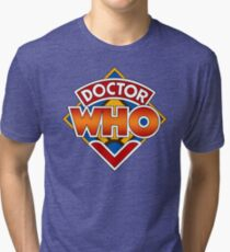Classic Doctor Who Diamond Logo. Tri-blend T-Shirt