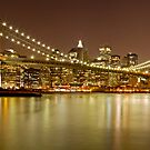 Brooklyn Bridge at Night Panorama 10 by BlackRussian
