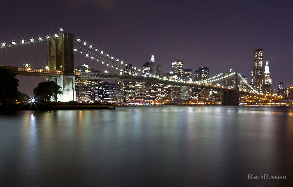 Brooklyn Bridge at Night 2 by BlackRussian
