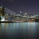 Brooklyn Bridge at Night 5 by BlackRussian