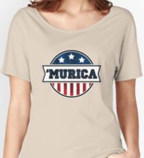 'MURICA T-Shirt. America. Jesus. Freedom. - The Campaign Women's Relaxed Fit T-Shirt