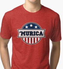 'MURICA T-Shirt. America. Jesus. Freedom. - The Campaign Tri-blend T-Shirt