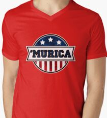'MURICA T-Shirt. America. Jesus. Freedom. - The Campaign Men's V-Neck T-Shirt