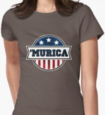 'MURICA T-Shirt. America. Jesus. Freedom. - The Campaign Womens Fitted T-Shirt