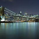 Brooklyn Bridge at Night 9 by BlackRussian