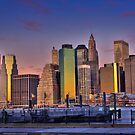 Downtown Manhattan at Sunrise by BlackRussian