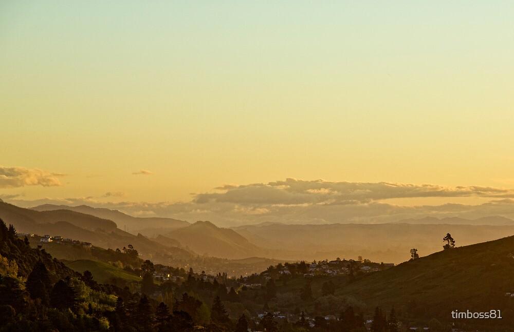 Golden sunset haze over Nelson by timboss81