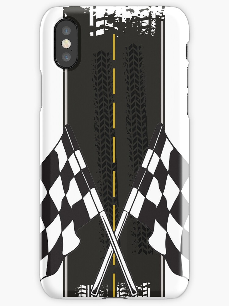 Racing flag and road - case by Nhan Ngo