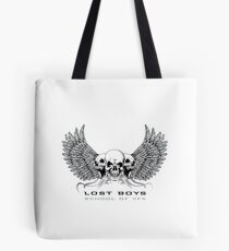 Lost Boys School of VFX: White Text Graphic Tote Bag