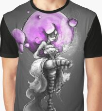 Rainbow Punk: Psychedelic Purple Graphic T-Shirt