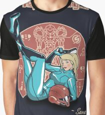 Power-up Pin-up- Metroid Shirt Graphic T-Shirt