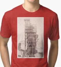 Construction of The Statue of Liberty Tri-blend T-Shirt