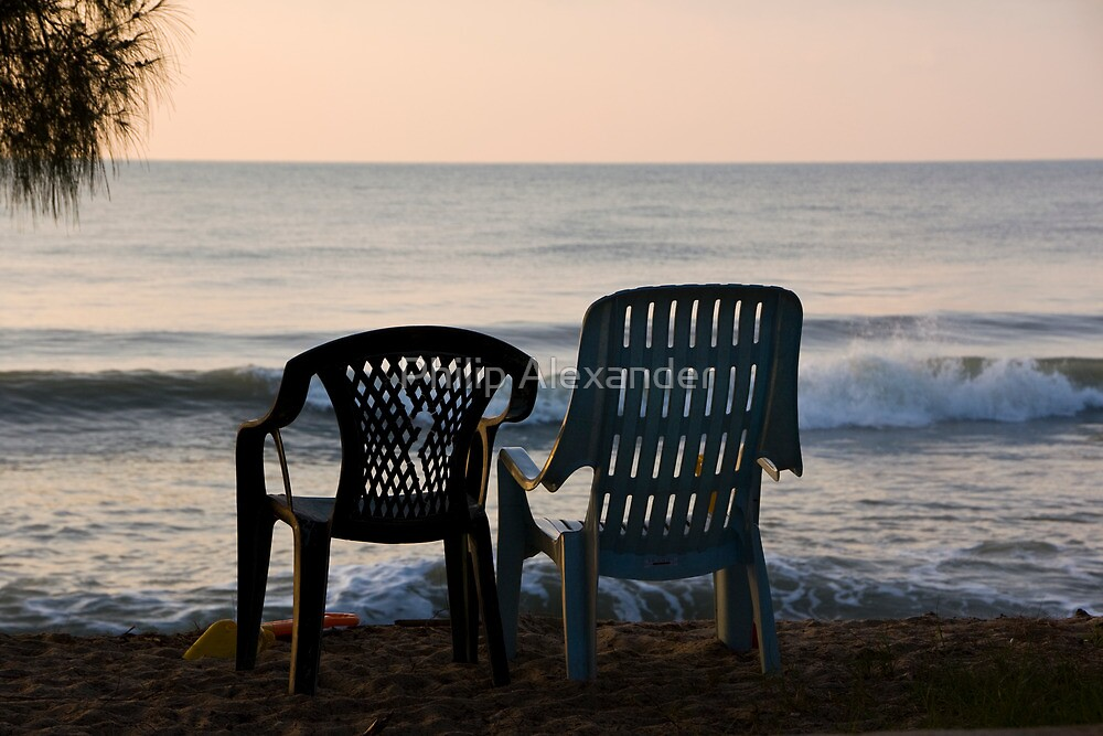 Seats at the Beach by Philip Alexander