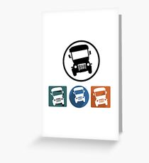 Jeepney icons Greeting Card