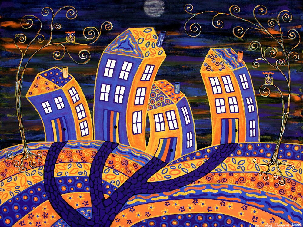 Midnight In Town - only the owls are watching! by Lisafrancesjudd