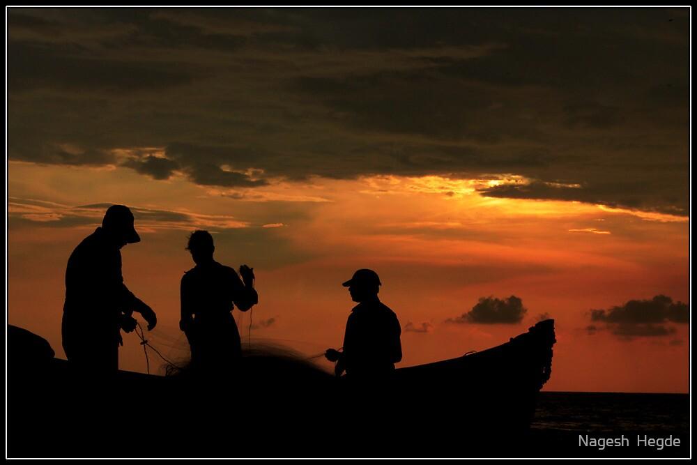 Busy Fishemen by Nagesh  Hegde