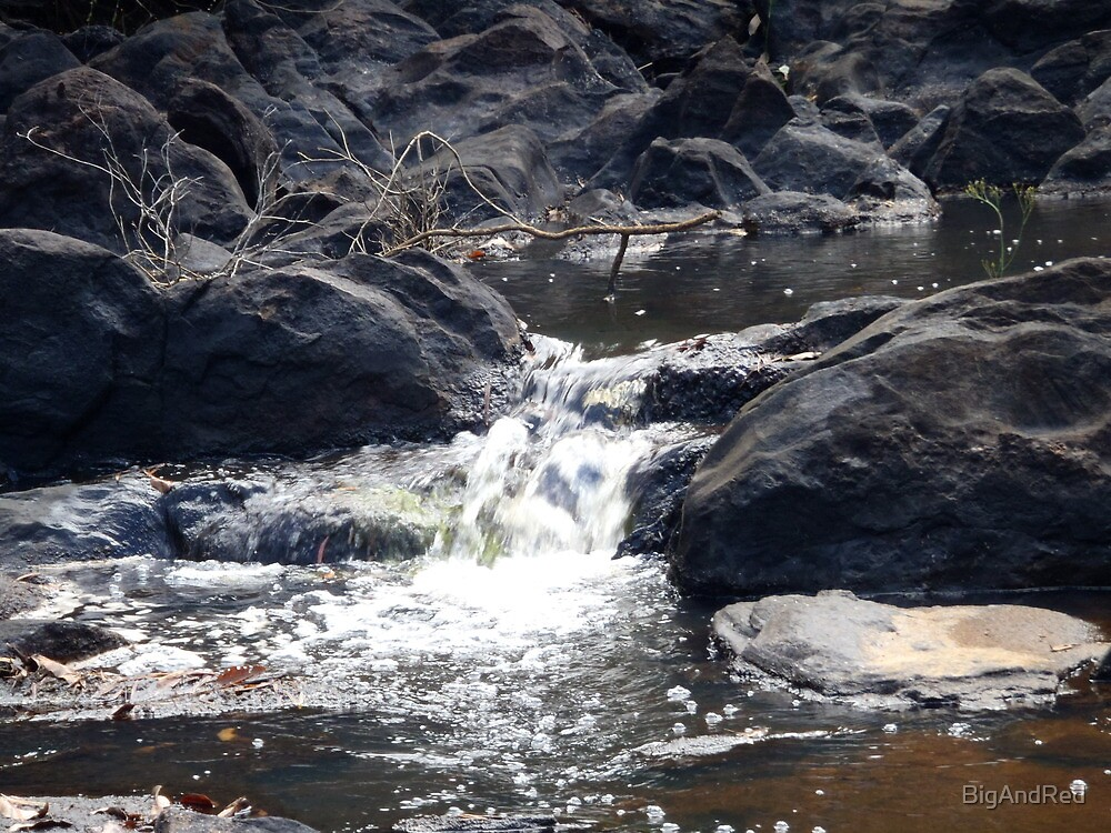 Water flow over rocks Donelley River by BigAndRed