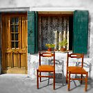 2 Chairs Burano, Venice Italy by Paul Williams