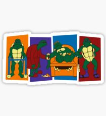 Elderly Mutant Retired Turtles Sticker