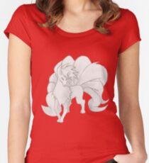 Ninetales - B&W by Derek Wheatley Women's Fitted Scoop T-Shirt