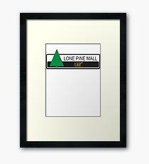 Lone Pine Mall Framed Print