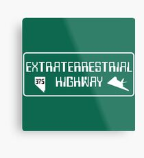 Extraterrestrial Highway, Nevada Road Sign Metal Print