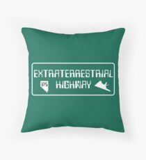Extraterrestrial Highway, Nevada Road Sign Throw Pillow