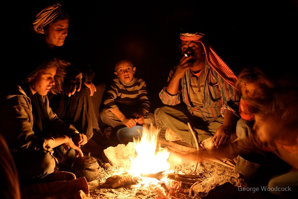 Quot Bedouin Family Around The Fire Quot By George Woodcock