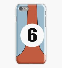 Race Winning #6 blue and orange racing livery iPhone Case/Skin