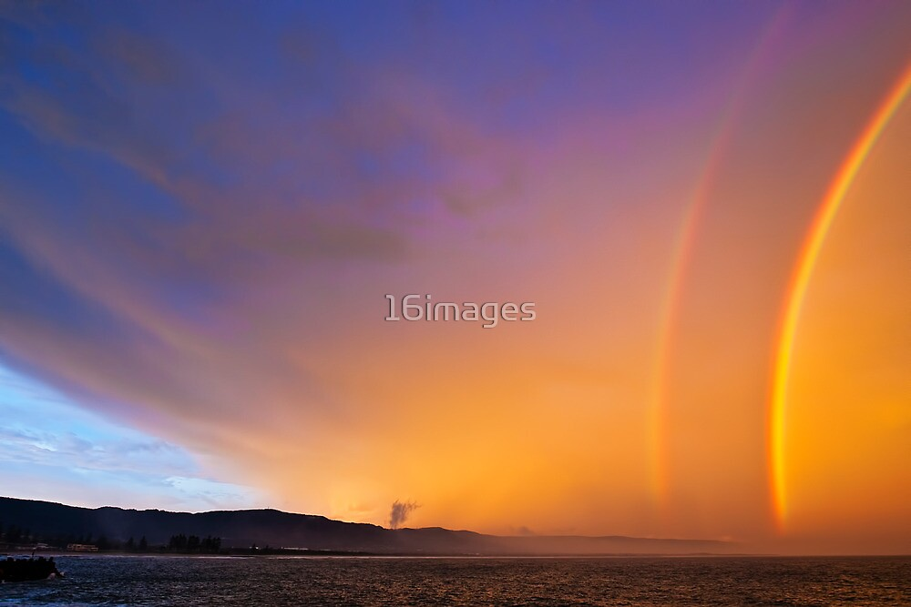 Rainbow Over Northern Wollongong by 16images