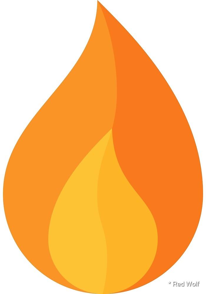 Geometric Pattern: Flame: Dark Orange by * Red Wolf