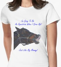I'm Going To Be An Equestrian - Kids & Toddler T-Shirts & Clothing Womens Fitted T-Shirt