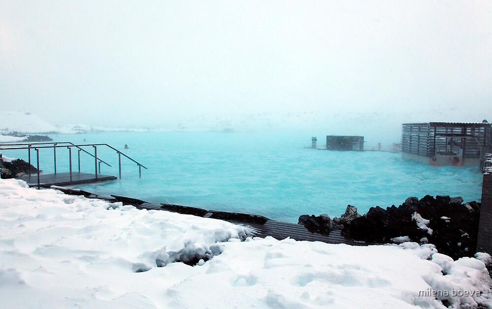 blue lagoon iceland by milena boeva