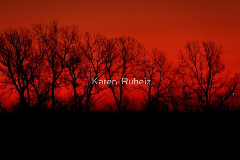 Red Dawn by Karen  Rubeiz