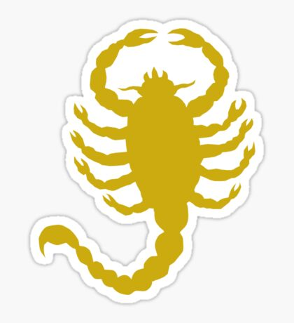 DRIVE SCORPION (GOLD) Sticker