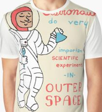 Scientific Astronauts - funny cartoon drawing with handwritten text Graphic T-Shirt