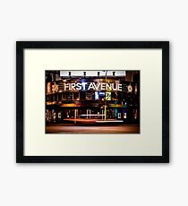 First Avenue Framed Print