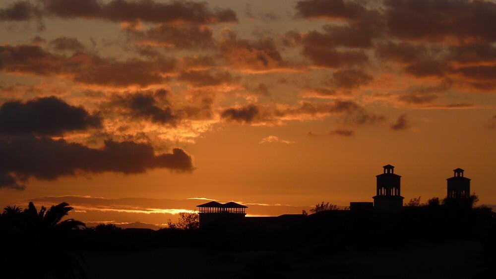 Sunset Over Maspalomas by jonvin