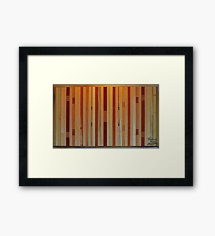 Inlaid X Wing Coffee Table  Framed Print