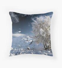 Glencoe winter landscape Throw Pillow